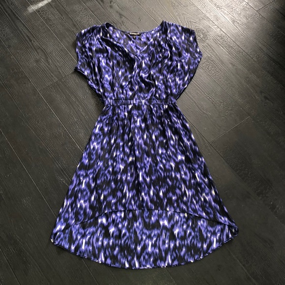 Express Dresses & Skirts - Express High Low Dress Purple Black XS